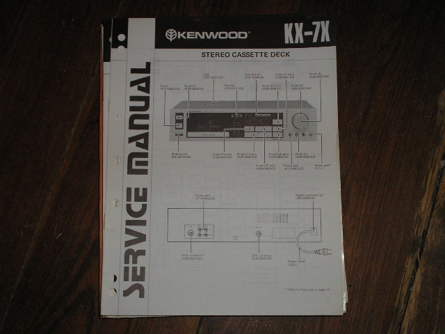 KX-7X Cassette Deck Service Manual B51-1270...880