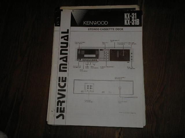 KX-31 KX-31B Cassette Deck Service Manual B51-1415...880