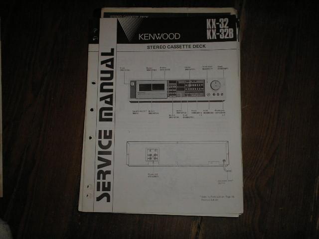 KX-32 KX-32B Cassette Deck Service Manual   B51-1608...880