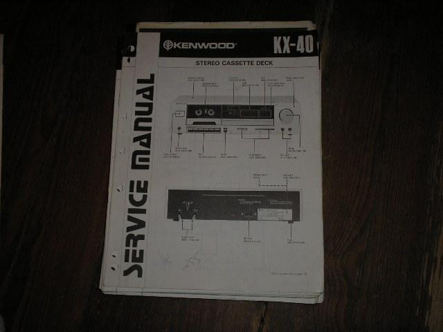 KX-40 Cassette Deck Service Manual  B51-0791...88.