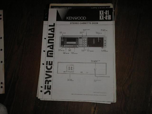 KX-41 KX-41B Cassette Deck Service Manual B51-1438...880