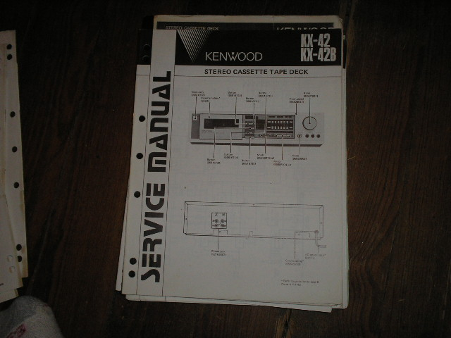 KX-42 KX-42B Cassette Deck Service Manual B51-1604...880