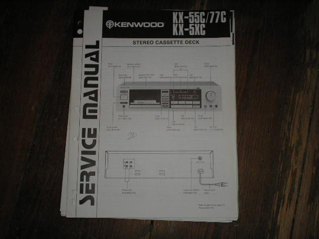 KX-55C KX-5KC KX-77C Cassette Deck Service Manual B51-1345...880