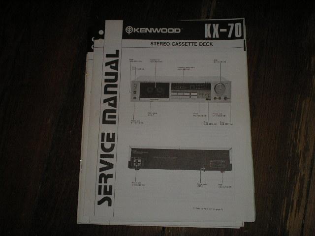 KX-70 Cassette Deck Service Manual
