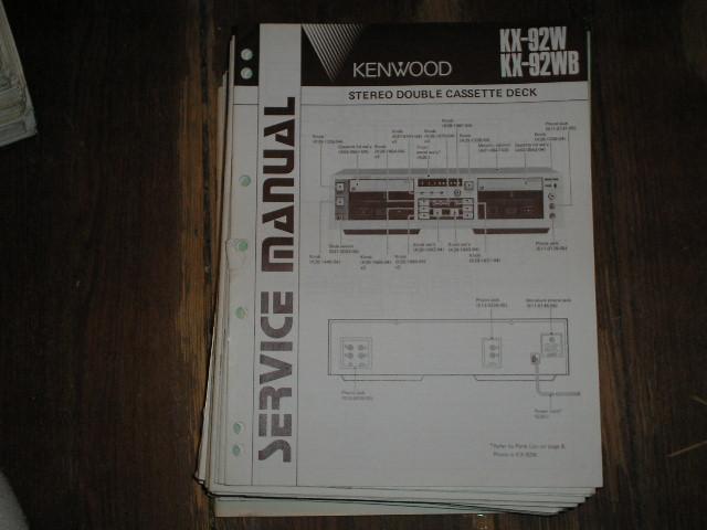 KX-92W KX-92WB Cassette Deck Service Manual B51-1599...220