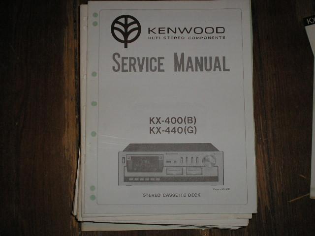 KX-400 KX-400B KX-440 KX-440G CASSETTE DECK SERVICE MANUAL