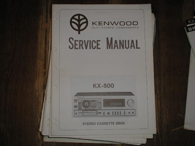 KX-500 CASSETTE DECK SERVICE MANUAL