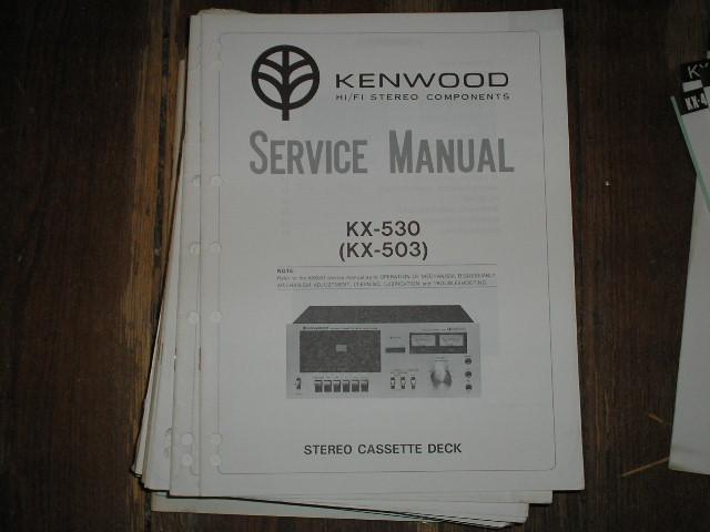 KX-530 KX-503 Cassette Deck Service Manual