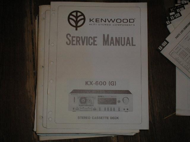 KX-600 KX-600 Cassette Deck Service Manual