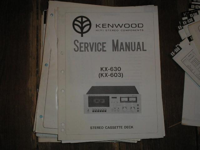 KX-603 KX-630 Cassette Deck Service Manual