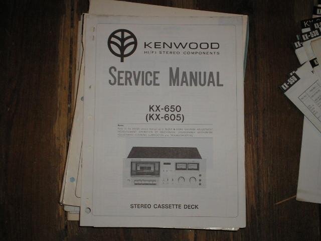KX-650 KX-605 CASSETTE DECK SERVICE MANUAL