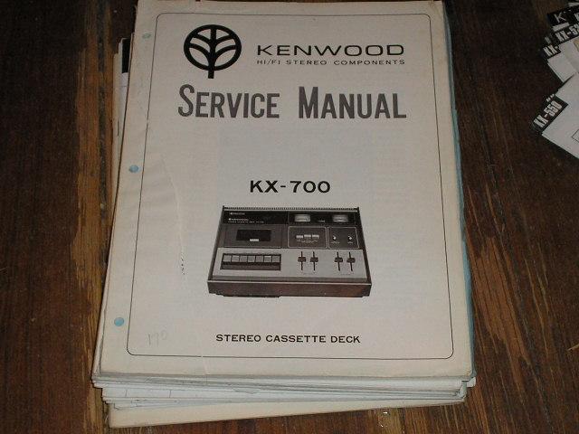 KX-700 Cassette Deck Service Manual ...B51-1205-00..B51-1205-10....880