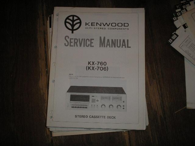KX-706 KX-760 Cassette Deck Service Manual