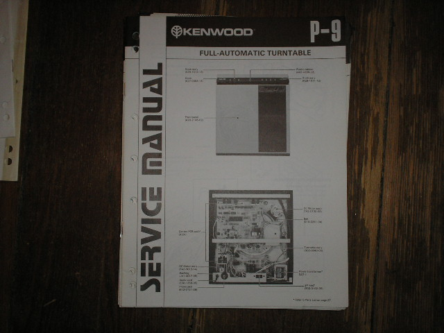 P-9 Turntable Service Manual