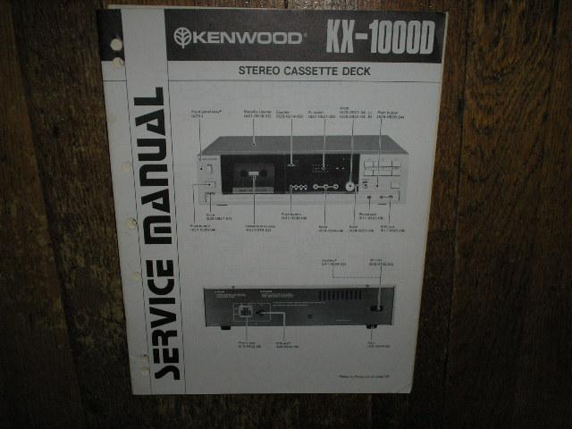 KX-1000D Cassette Deck Service Manual