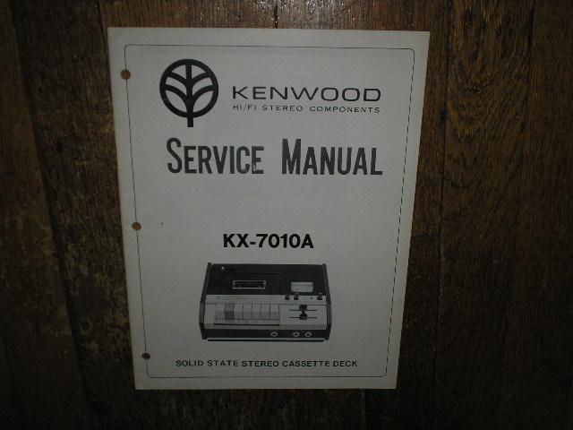 KX-7010A Cassette Deck Service Manual
