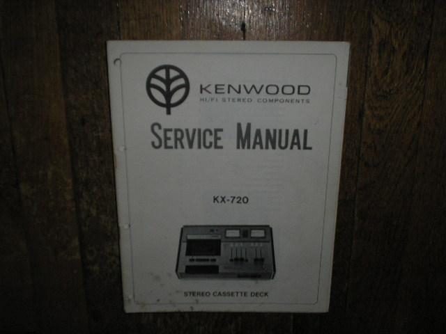 KX-720 Cassette Deck Service Manual