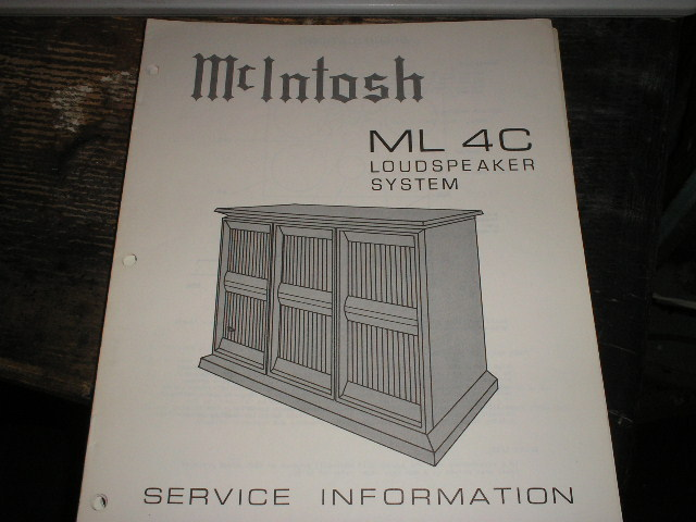 ML4C Loudspeaker Service Manual for Serial Number L1E001 and above..