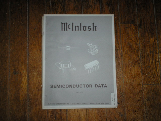 McIntosh 1973 Semiconductor Manual has photos of the diodes and transistor data etc..    Parts Manual