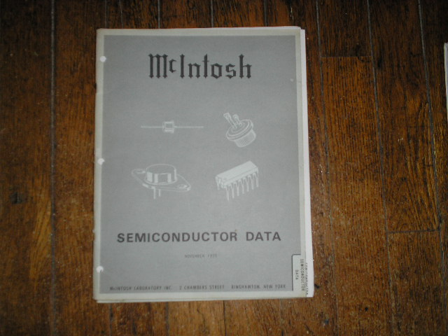 McIntosh 1975 Semiconductor Manual has photos of the diodes and transistor data etc..  Parts Manual