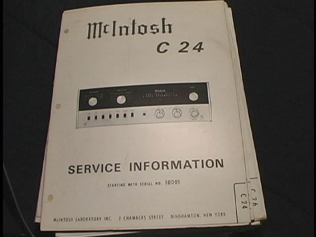 C 24 Pre-Amplifier Service Manual Starting with Serial No 10D01