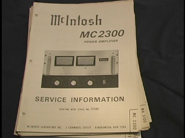 MC 2300 Power Amplifier Service Manual for Serial No. 1Y001