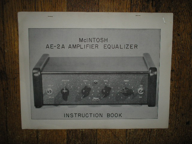 AE-2A Amplifier Equalizer Service Manual