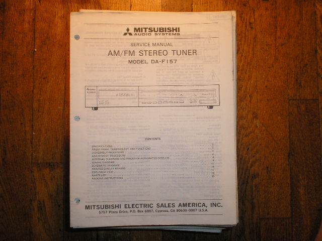 DA-F157 Tuner Service Manual