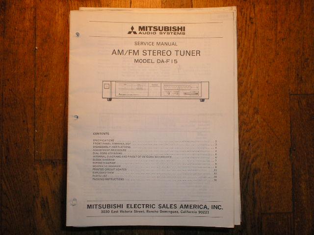 DA-F15 Tuner Service Manual