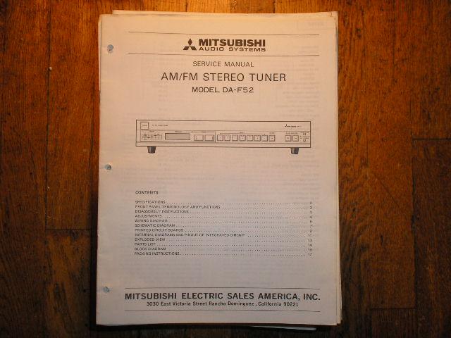 DA-F52 Tuner Service Manual