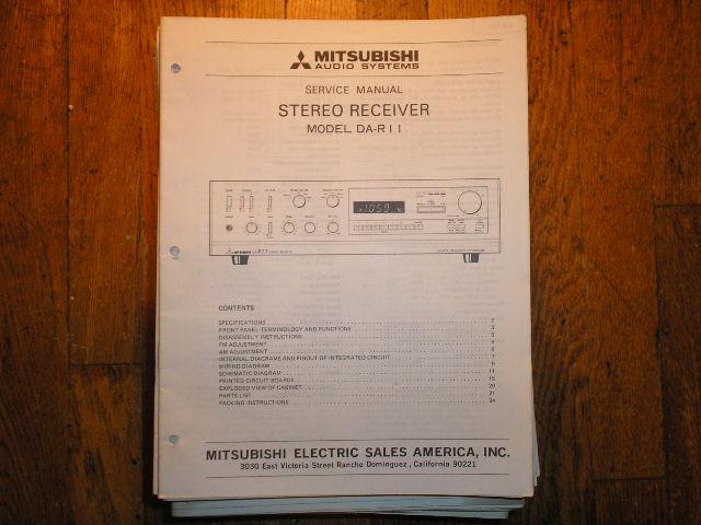 DA-R11 Receiver Service Manual
