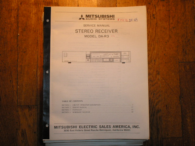 DA-R3 Receiver Service Manual