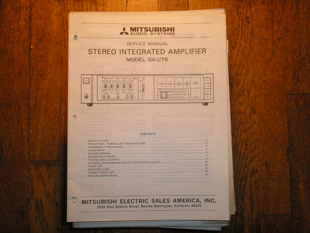 DA-U75 Amplifier Service Manual