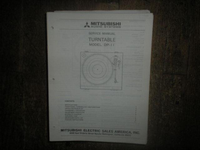DP-11 Turntable Service Manual  sm2075
