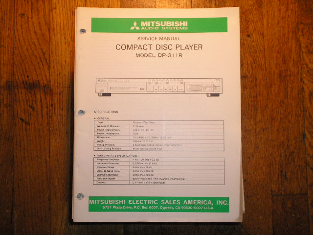 DP-311R CD Player Service Manual
