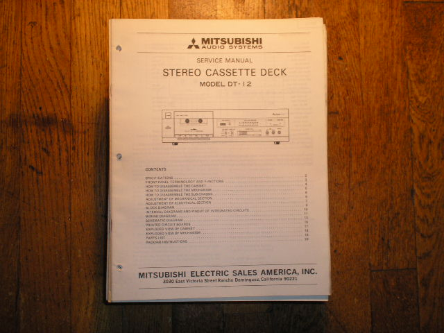 DT-12 Cassette Deck Service Manual