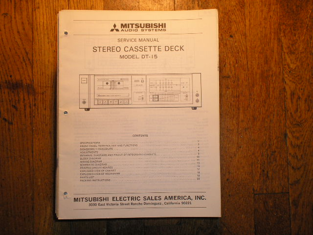 DT-15 Cassette Deck Service Manual