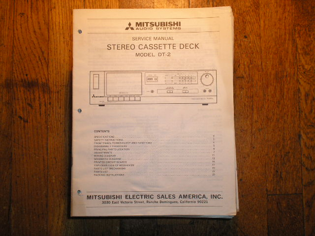DT-2 Cassette Deck Service Manual