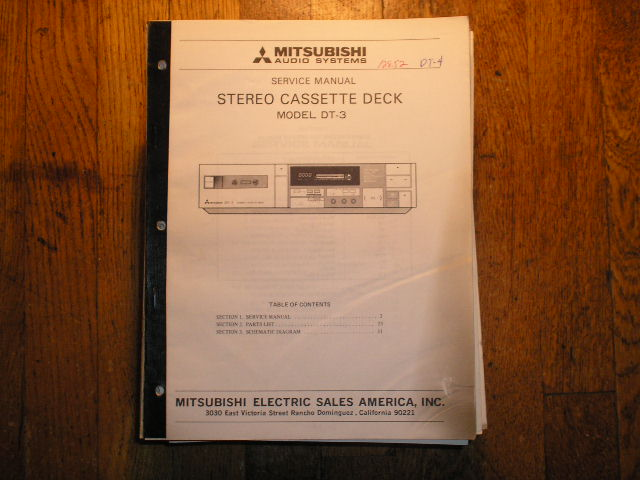 DT-3 Cassette Deck Service Manual