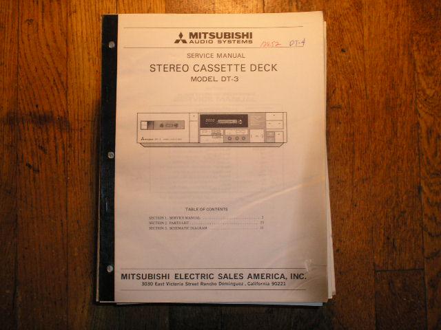 DT-3 Cassette Deck Service Manual  lsm3027