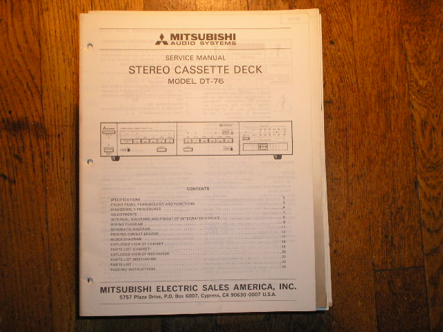 DT-76 Cassette Deck Service Manual