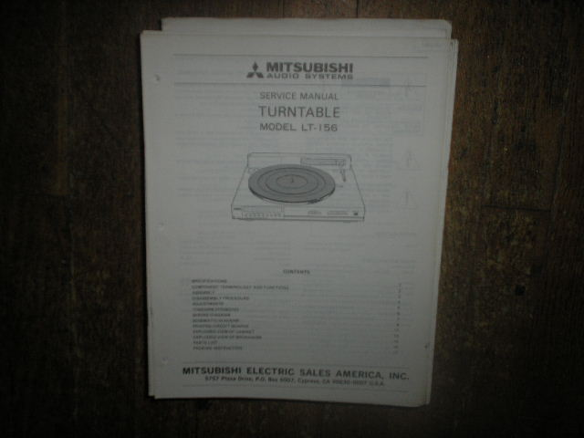 LT-156 Turntable Service Manual