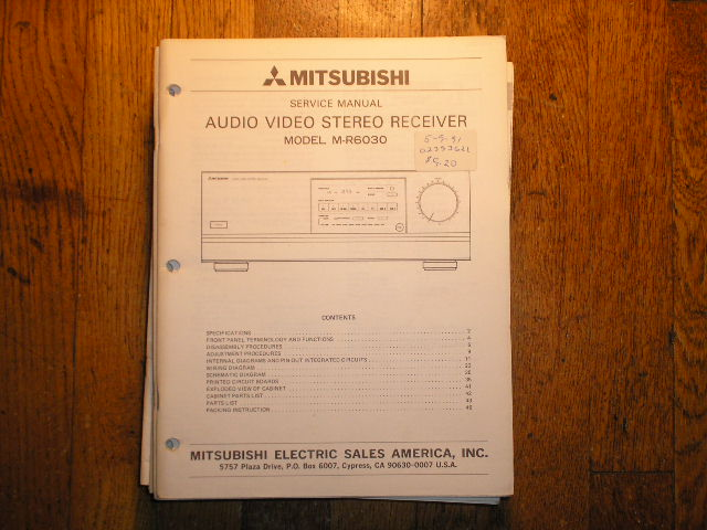 M-R6030 Audio Video Receiver Service Manual