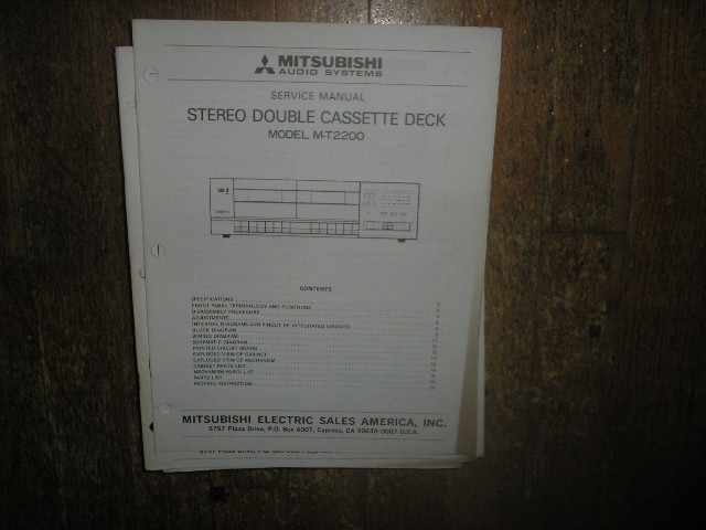 M-T2200 Cassette Deck Service Manual