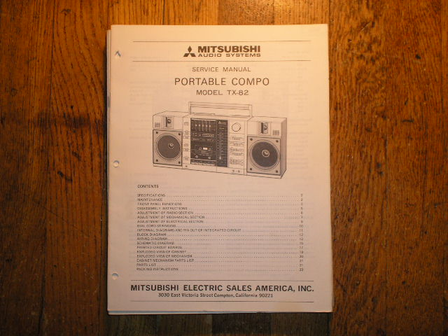 TX-82 Cassette Deck Radio Service Manual  lsm3021