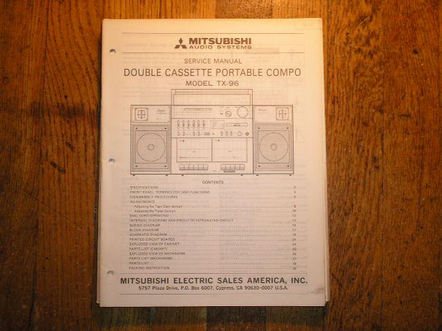 TX-96 Cassette Deck Radio Service Manual  lsm5045