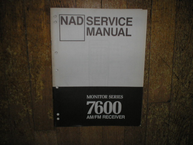 Monitor Series 7600 Stereo Receiver Service Manual