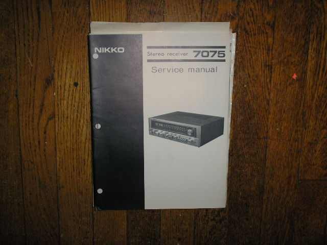7075 AM FM Stereo Receiver Service Manual with Schematic
