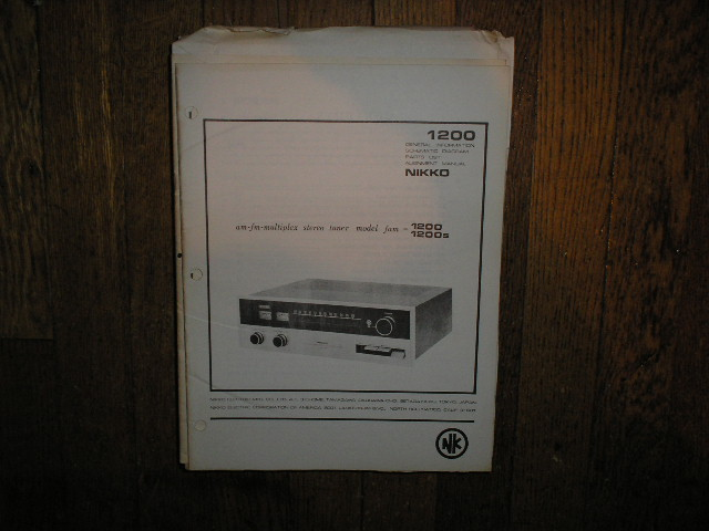 TRM-1200 FAM-1200S Tuner Service Manual with Schematic