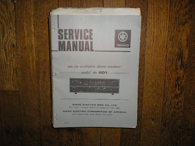 STA-501 AM FM Stereo Receiver Service Manual with Schematic
